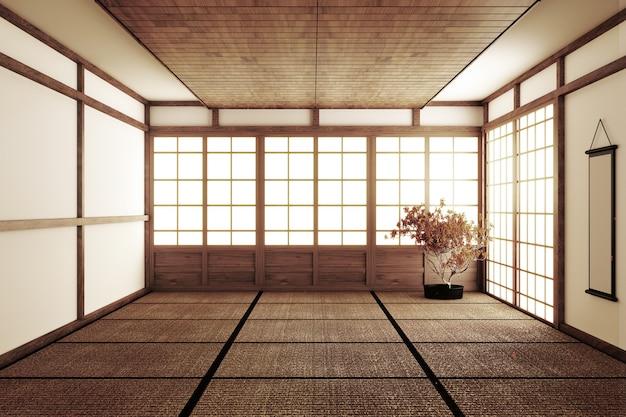 Pièce vide de style japonais
