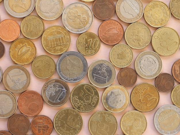 Pièces en euros, fond de l'union européenne