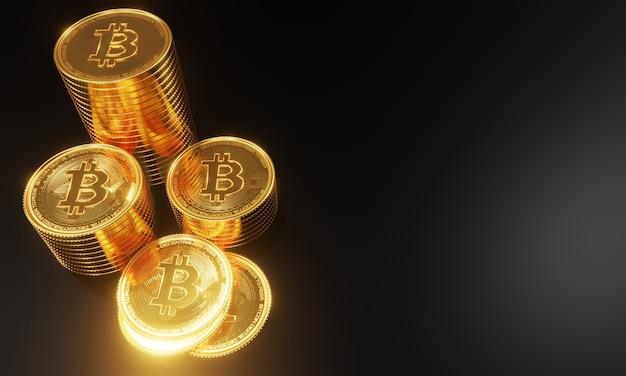 Pièces de monnaie en or numérique bitcoin