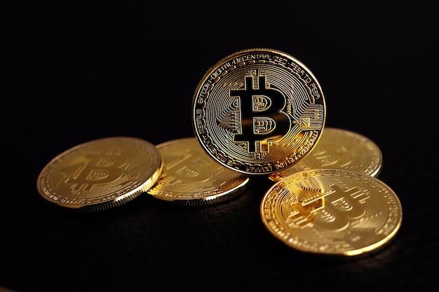 Pièces d'or bitcoin. concept de crypto-monnaie.