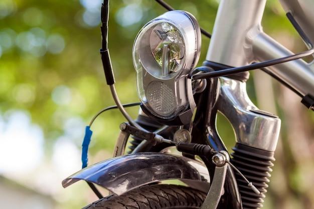 Pièces pour vélos. gros plan sur la mise au point sélective