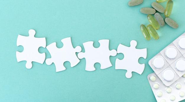 Pièces de puzzle pour le lettrage
