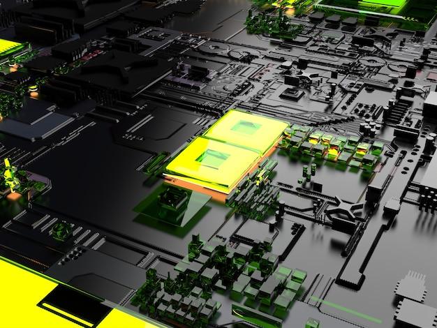 Pièces de rechange informatiques. gros plan abstraction