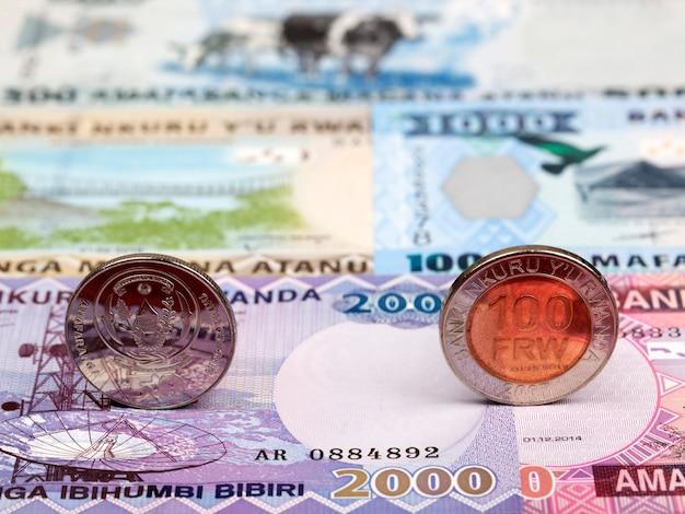 Pièces rwandaises - franc sur fond d'argent