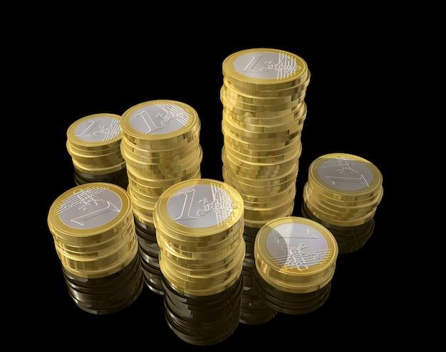 Pièces en trois dimensions en euros