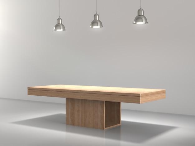 Piédestal en bois pour le produit affiché en vide.