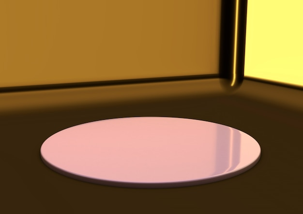 Piédestal rond moderne minimal abstrait ou podium