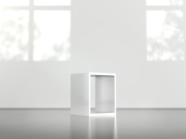 Piédestaux blancs pour présentation du produit
