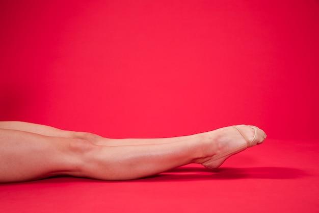 Pieds de gymnaste rythmique