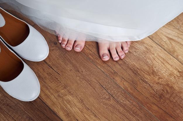 Les pieds de la mariée