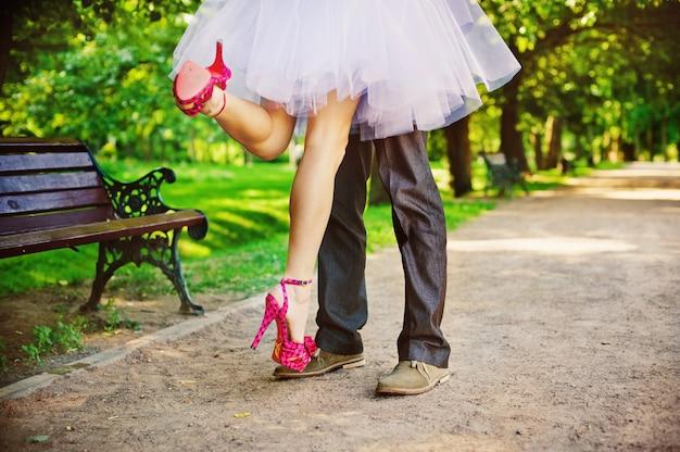 Les pieds des mariés
