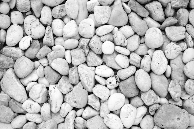 Pierre de cailloux blancs ou texture et fond de pierre de rivière