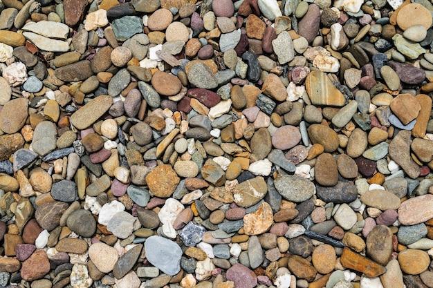 Pierre de galets bruns ou fond de pierre de rivière