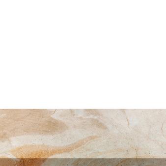 Pierre marbre sur fond blanc isolé avec espace.