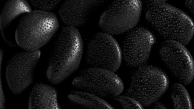 Pierre noire et goutte d'eau