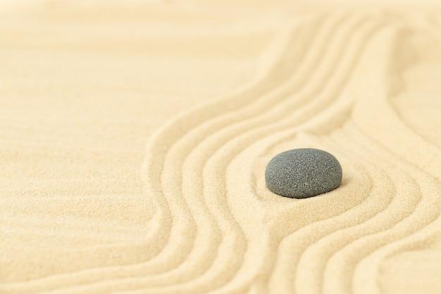Une pierre sombre sur le sable