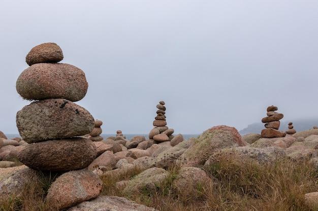 Pierres formant des formes
