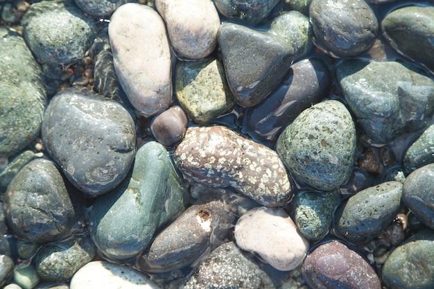 Pierres de la mer. été. fond. texture