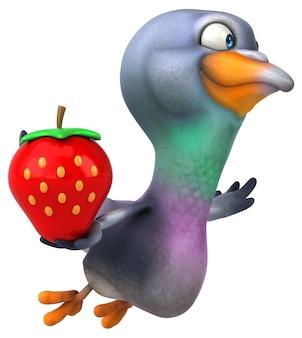 Pigeon amusant - illustration 3d