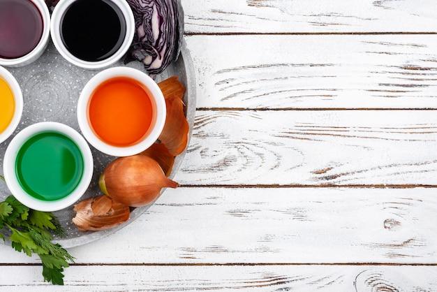 Pigment de teinture organique à plat