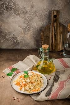 Pilaf de poulet bulgur