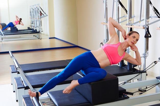 Pilates reformer femme short box box stretch