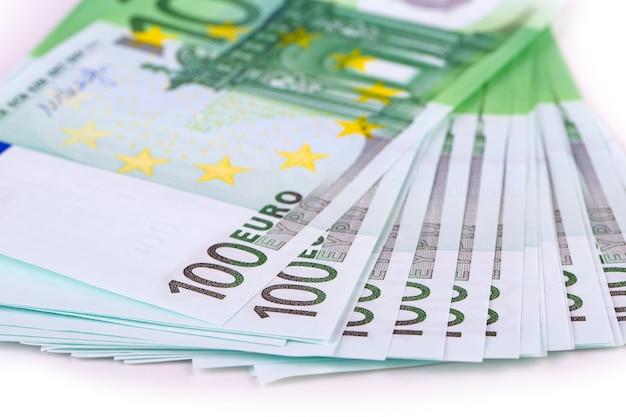 Pile d'argent euro. stock photo
