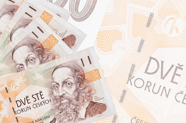 Pile de billets en couronne tchèque