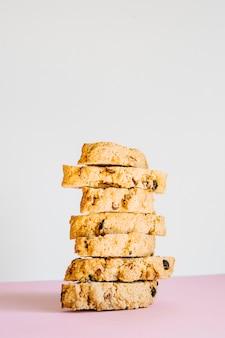 Pile de biscuits biscotti
