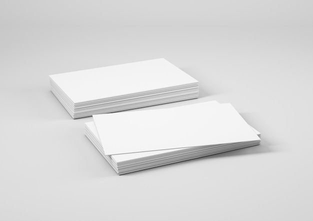 Pile de cartes de visite blanches