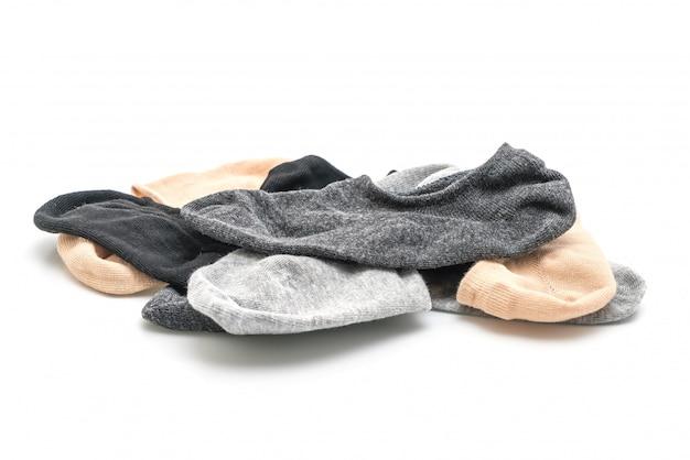 Pile de chaussettes courtes