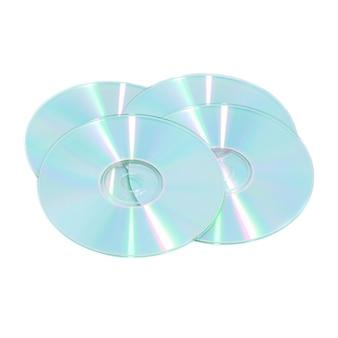 Pile de disques compacts cd isolé