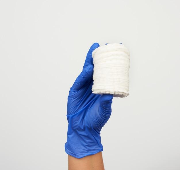 Pile de disques ronds en coton blanc