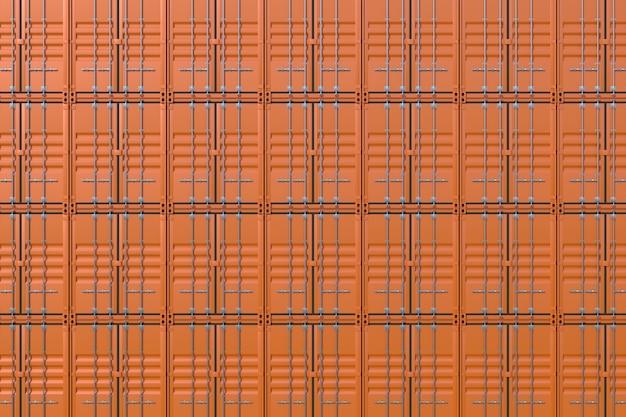 Pile de fond de conteneurs de fret de navire brun