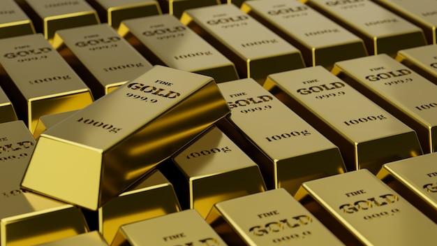 Pile de fond de lingots d'or