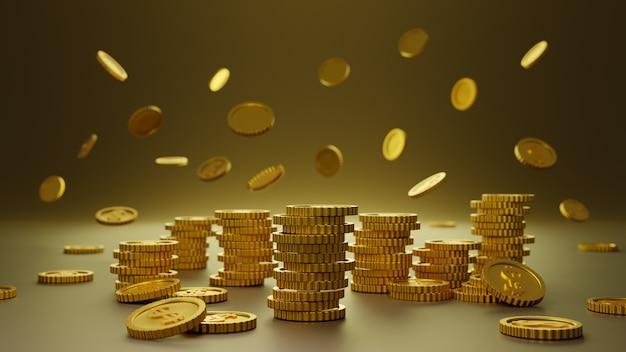 Pile de fond d'or pièces d'or