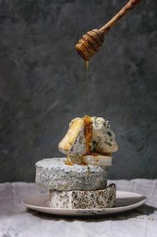 Pile de fromage français