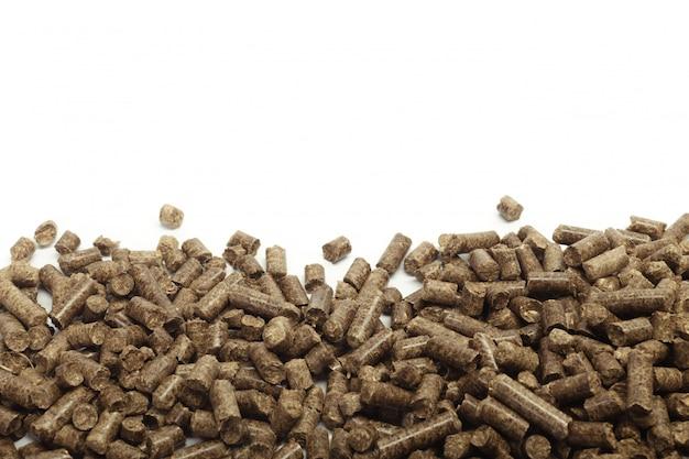 Pile de granulés de bois pour la bioénergie