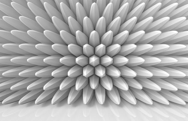 Pile hexagonale d'extrusion moderne dans un mur en forme de fleur