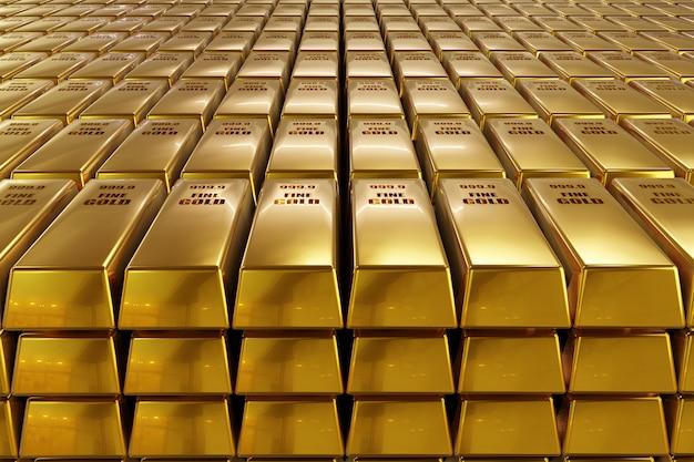 Pile de lingots d'or