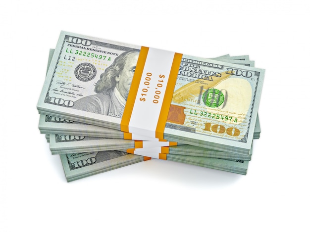 Pile de nouveaux billets de 100 dollars américains