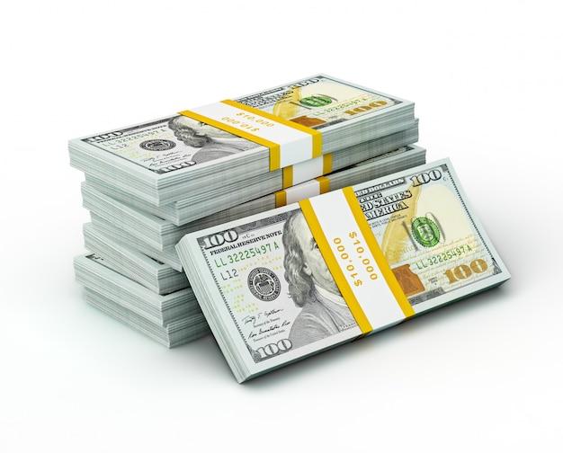 Pile de nouveaux billets de 100 dollars us édition 2013