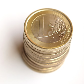 Pile de pièces en euros