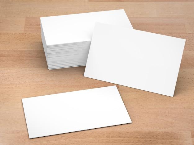 Pile de rendu 3d de cartes de visite vierges