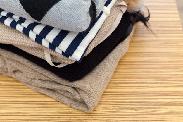 Pile de vêtements