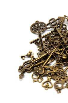 Pile de vieilles clés