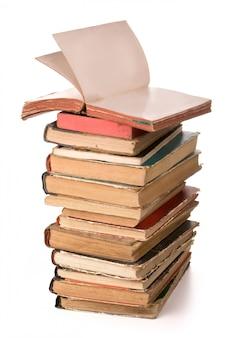 Une pile de vieux livres