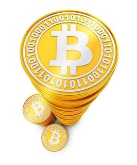 Des piles de bitcoins