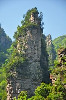 Pilier de grès de quartz à zhangjiajie en chine