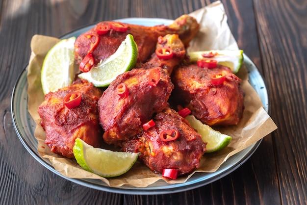 Pilons de poulet en sauce barbecue